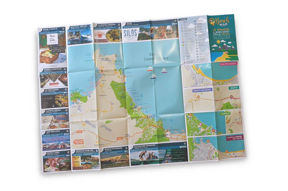 Beach Map cartina aperta