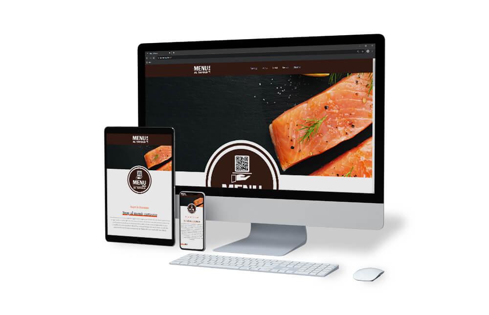 menu tavolo sito web