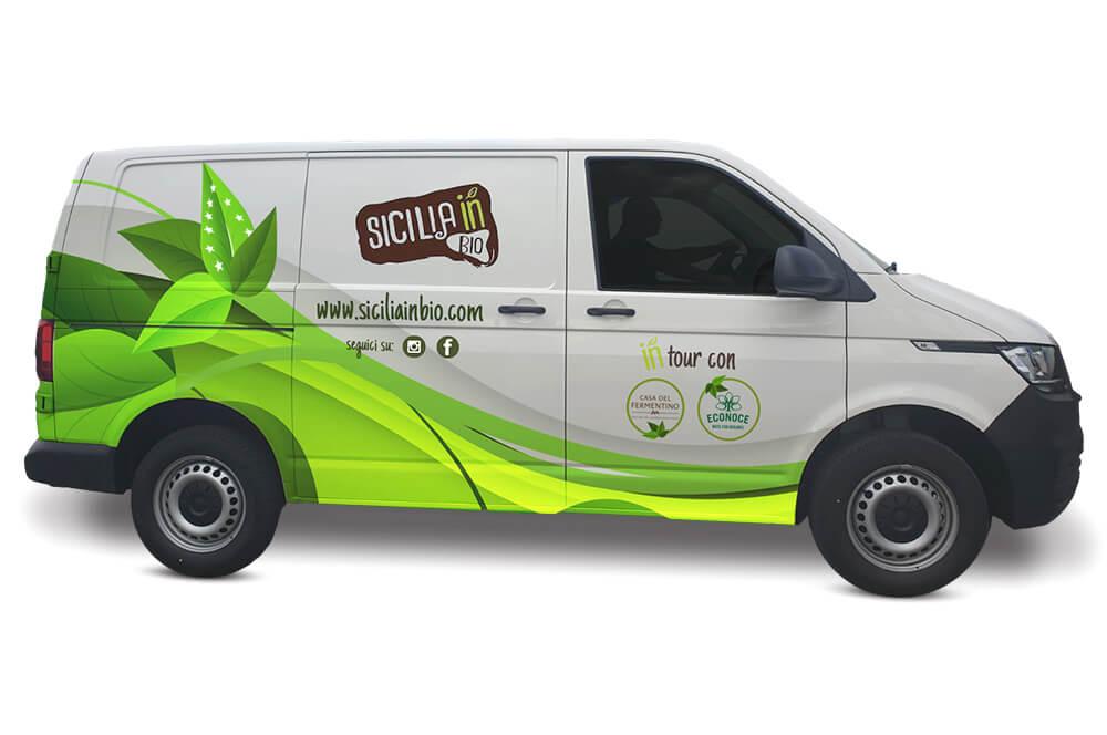 Sicilia In bio packaging furgone