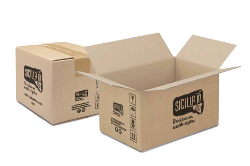 Sicilia In bio packaging scatole